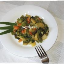 Стручковая фасоль с брокколи рецепт