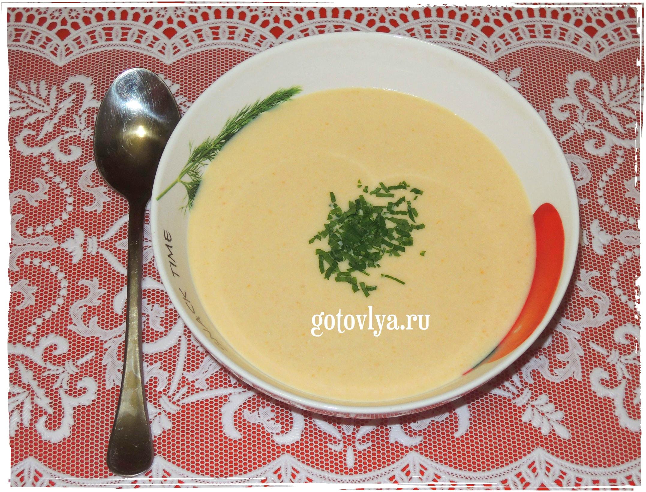 Крем суп из лосося со сливками