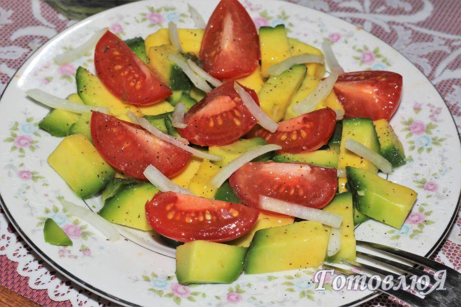 Салат с авокадо простой и быстрый рецепт
